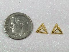 3D Charm #17 Gold Pyramid (pack of 2)