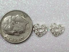 3D Heart #11 Silver Decorative Heather (pack of 2)