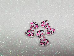 Bow #88 Pink Cheetah (pack of 3)