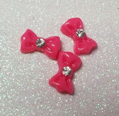 Bow #95 Hot Pink Bow (pack of 3)