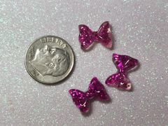 Bow #107 Purple Glitter Bow (pack of 3)