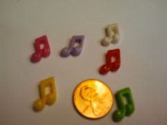 3D Music Note Large Charms (pack of three)