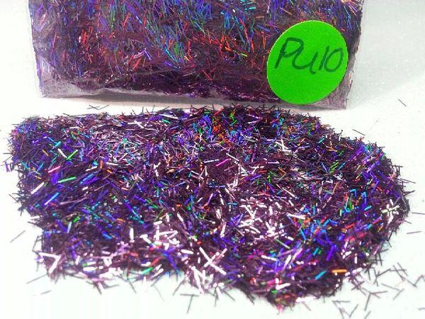Pu10 Holographic Garnet Fibers Solvent Resistant