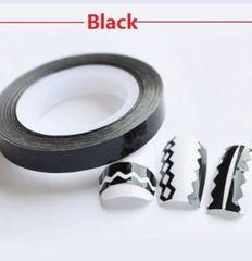 Zig Zag Striping Tape Black