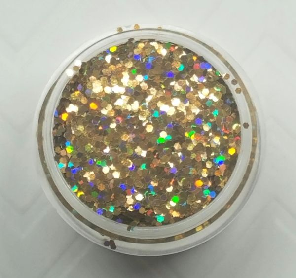 GO19 Holographic Gold (.040) Solvent Resistant Glitter