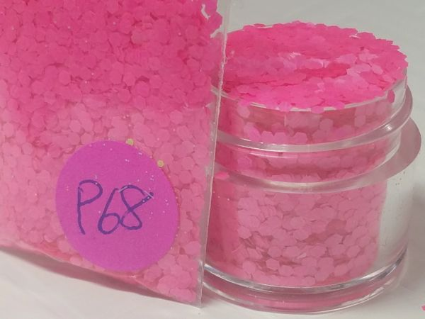 P68 Neon Pink (.062) Solvent Resistant Glitter