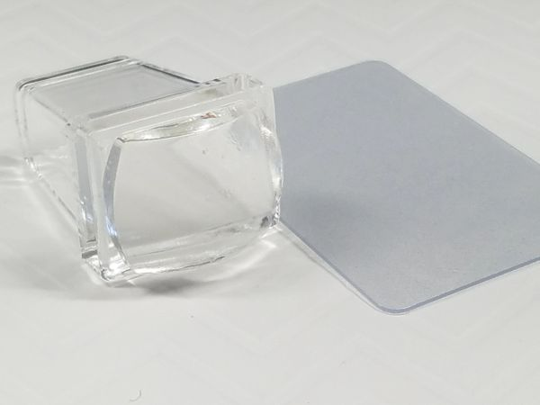 Rectangular Clear Stamper and Scraper