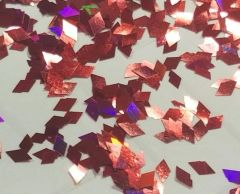 IN194 Holographic Red Diamonds Glitter Insert (1.5 gr baggie)