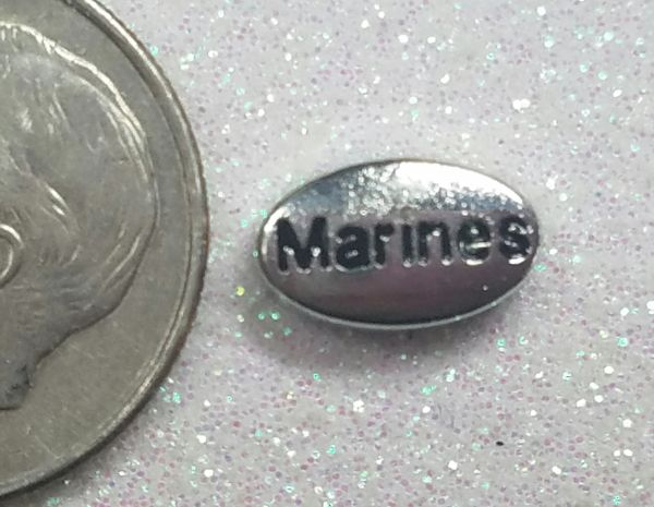 Charm #FL88 - Marines (1 piece)(perfect for nails, or living & floating lockets)