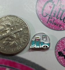 Charm #FL103 - Camper (1 piece)(perfect for nails, or living & floating lockets)