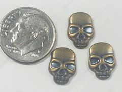 3D Skull #9 Skull Charm for Decoration (pack of 3)