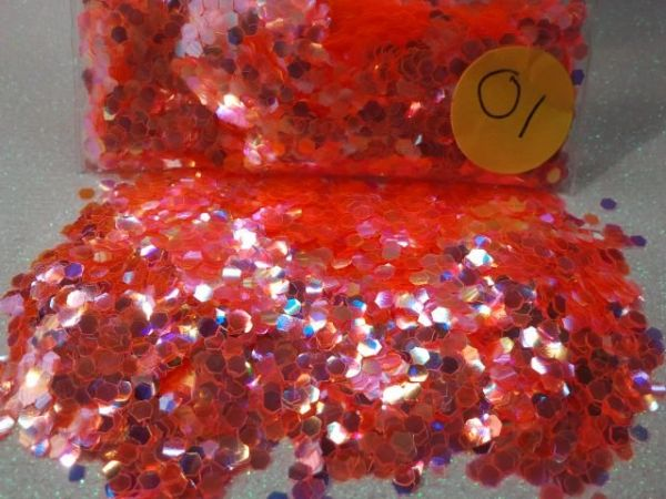 O1 Super Orange (Size .094) Solvent Resistant Glitter