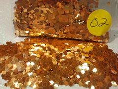 O2 Fire Orange (.094) Solvent Resistant Glitter