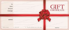 Gift Certificate in 6 different Values