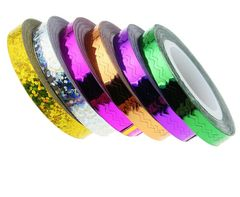 Zig Zag Striping Tape Holographic Silver