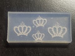3D Mold - #M39 Crown Mold Make Your Own 3D Nail Decorations