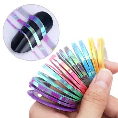 Unicorn Striping Tape (18 rolls, 1,2 & 3 3mm roll of each color)
