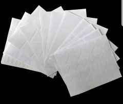 White Nail Stencils (pack of 12)