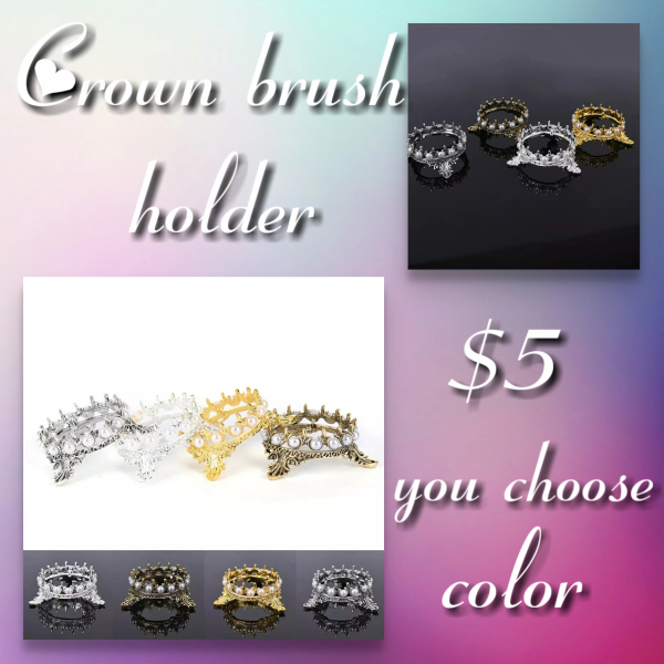 Crown Brush Holder in 4 colors