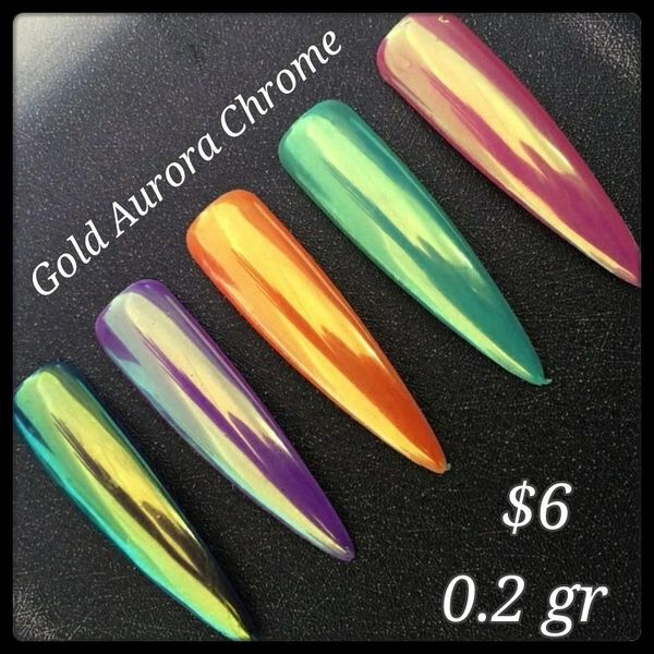 Gold Aurora Chrome Powder (0.2 gr)