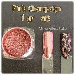 Pink Champagne Mirror Effect Chrome Flakes (1 gr)