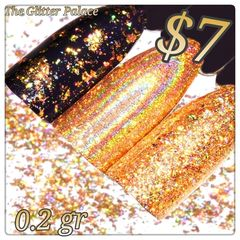 Holographic Gold Chrome Powder (0.2 gr )