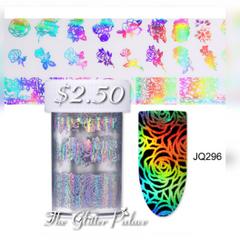 Holographic Long Stem Rose Foil