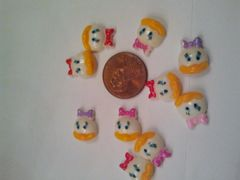 3D Daisy Duck Head Charms perfect for cell phone, and nail decoration (pack of 3)