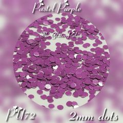 IN243 (PU72) Pastel Purple 2mm Dots, glitter insert (1.5 gr baggie)