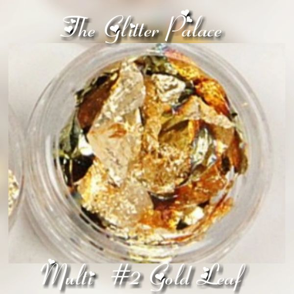 Multi Colored #2- Gold Leaf Foil