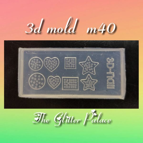 3D Mold - #M40 Hearts & Stars Make Your Own 3-D Decorations