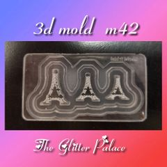 3D Mold - #M42 Eiffel Tower Make Your Own 3-D Decorations