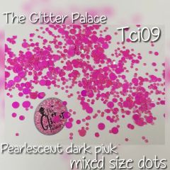 Pearlescent Dark Pink Dot Mix (Tci09)