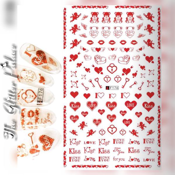 Valentine's Day Stickers (F176) Cupids, Kiss, Hearts etc