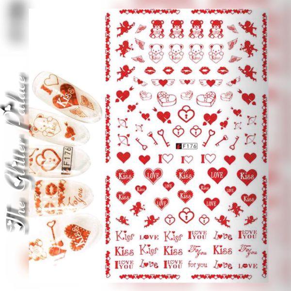 Valentine's Day Stickers (F176) Cupids, Kiss, Hearts etc