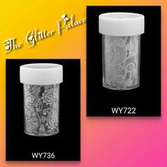 White Paisley Print Foils (set of two)