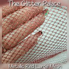 Metallic Red Large Mesh For Encapsulation
