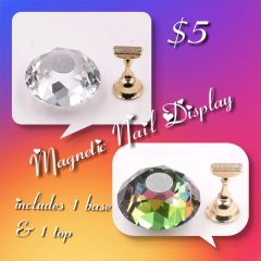 Clear Crystal Ball Nail Display (2 colors available)