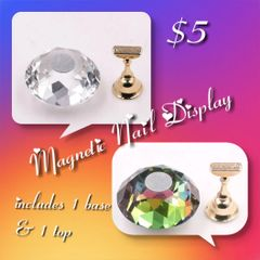 Multi Colored Crystal Ball Nail Display (2 colors available)