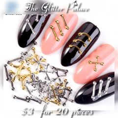 Metal Nail Decorations (20 pieces)(you choose color)