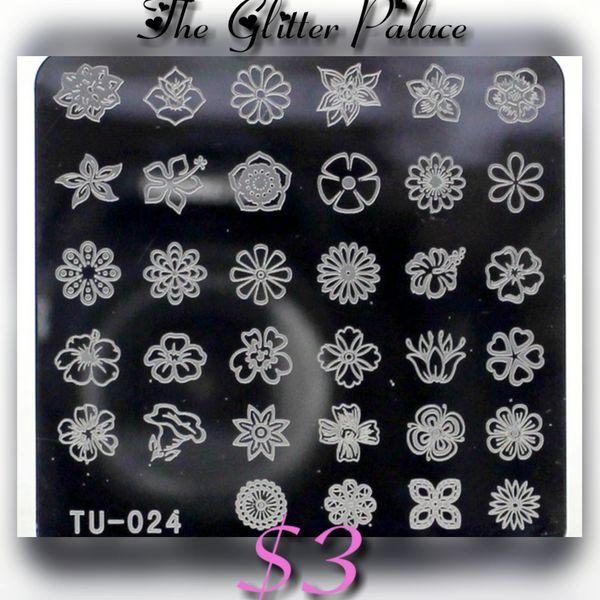 Stamping Plate (TU-024) Flowers