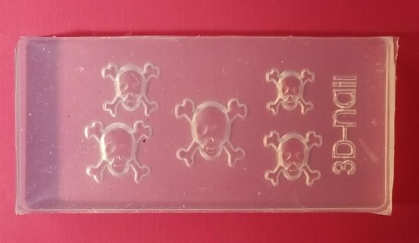 3D Mold #M35 Skull Mold Make Your own 3D Nail Decorations