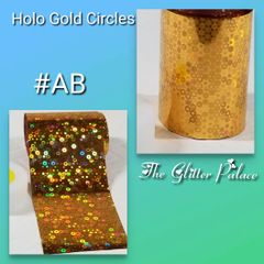 Foil - Holo Gold with Circles (AB)
