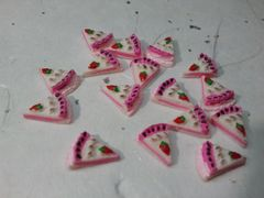3D Food Cake #3 - nail decoration (pack of three)