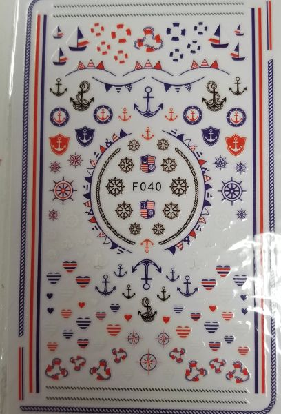 Nautical Anchors, Wheels Etc Stickers (F040)