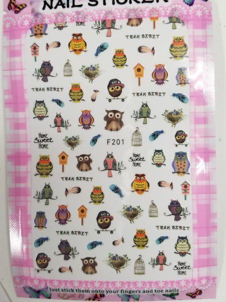 Owl Stickers (F201)