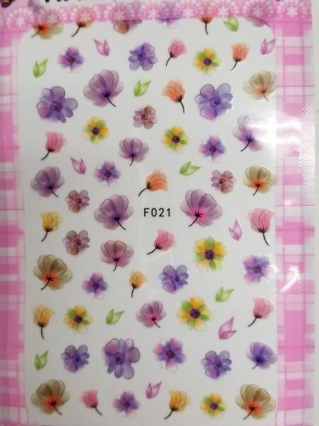 Watercolor Flowers (F021)
