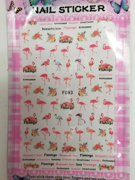 Tropical & Pink Flamingos (F083)