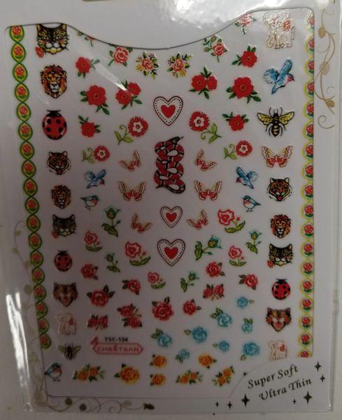 Lions, Snakes, Birds, Flowers, Butterflies etc (TSC-134)