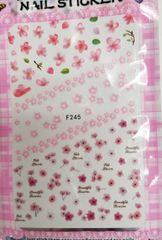 Pink Flower Stickers (F245)